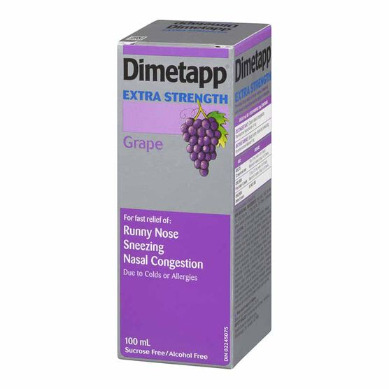 Dimetapp Extra Strength Cold - 100ml