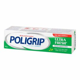 Poligrip Ultra Fresh Denture Adhesive Cream - 40g