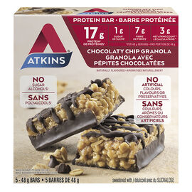 Atkins Protein Bar - Chocolaty Chip Granola - 5 x 48g