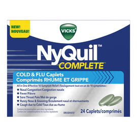 Vicks NyQuil Complete Cold & Flu Caplets - 24's