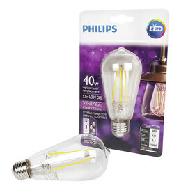 Philips ST19 Vintage Filament LED Light Bulb - Clear - 40w