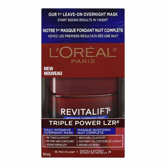 L'Oreal Revitalift Triple Power LZR Daily Intensive Overnight Mask - 50ml