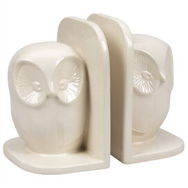 London Drugs Earthenware Bookends - Owl