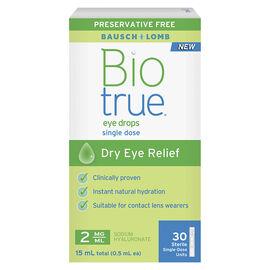 Bausch & Lomb Biotrue Eye Drops Dry Eye Relief Single Use - 15ml