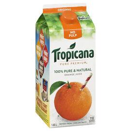 Tropicana Pure Premium Orange Juice - Pulp Free - 1.65L