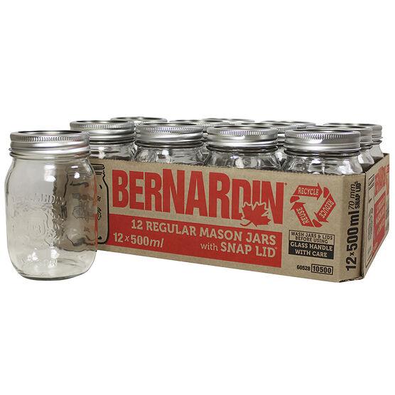 Bernardin Regular Mason Jar - 500ml - 12 pack