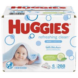 Huggies Refreshing Clean Wipes - Cucumber & Green Tea - 288's
