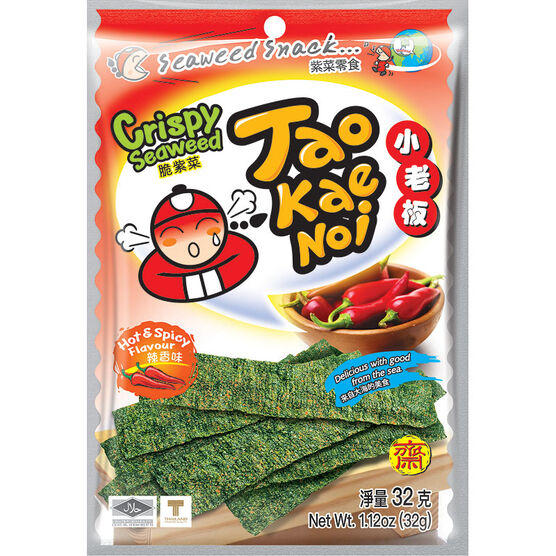 Taokaenoi Seaweed - Hot & Spicy - 32g