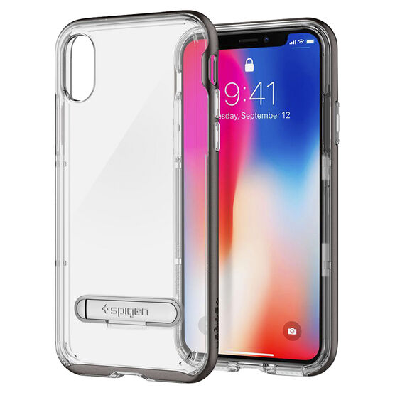 Spigen Crystal Hybrid Case for iPhone X - Gunmetal - SGP057CS22144