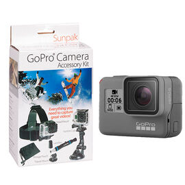 GoPro Hero6 Black with Sunpak Action Camera Kit - PKG #37561