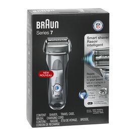 Braun Series 7 Wet & Dry Smart Shaver - Silver/Black - 7893s