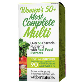 Webber Naturals Women's 50+ Most Complete Multi - 90's