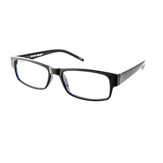 Foster Grant Sloan Reading Glasses with Case - Black/Blue - 2.00