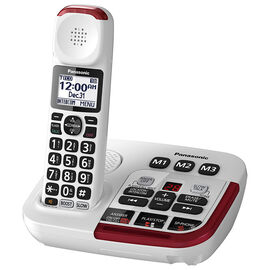 Panasonic Amplified Cordless Phone - White - KXTGM470W