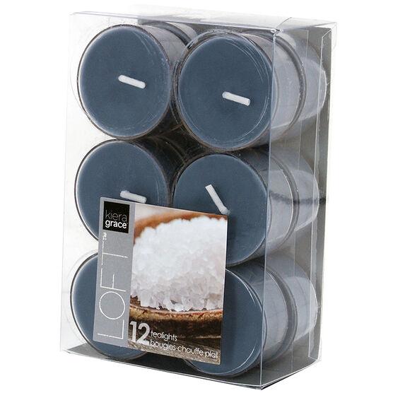 Kiera Grace Loft Tealights - Mineral - 12 pack