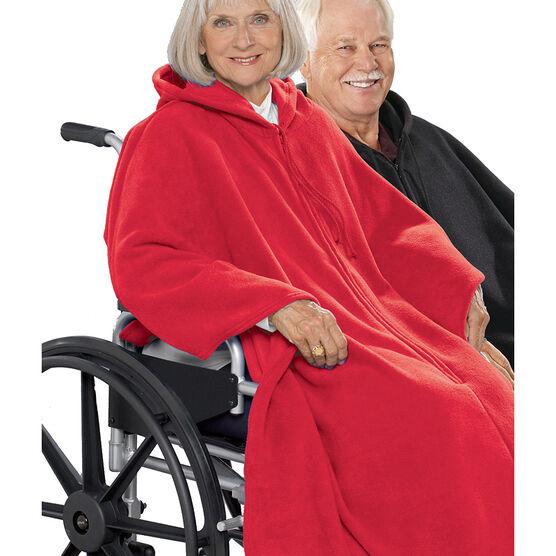 Silvert's Polar Fleece Wheelchair Cape - Red