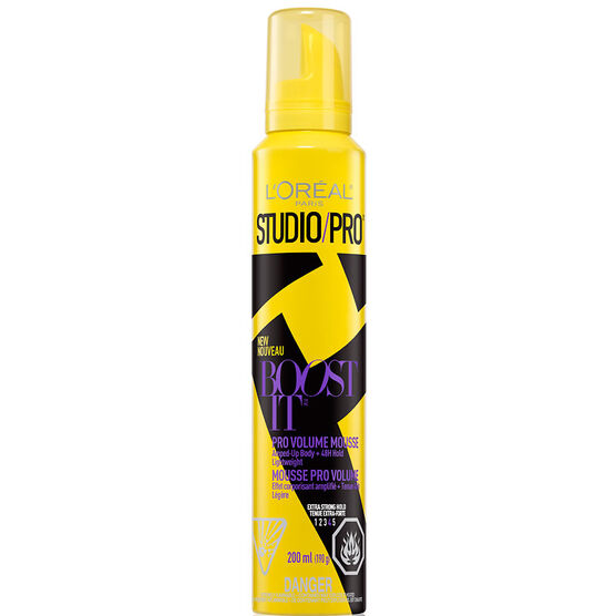 L'Oreal Studio Pro Boost It Pro Volume Mousse - Extra Strong Hold - 200g