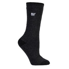Heat Holders Ladies Lite Twist Crew Sock - Black/Grey