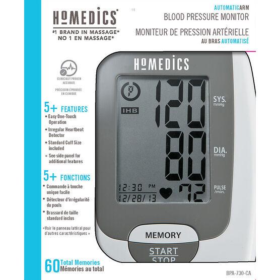 Homedics Automatic Arm Blood Pressure Monitor - BPA-730-CA
