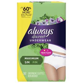 Always Discreet Underwear Maximum - Small/Medium - 32's