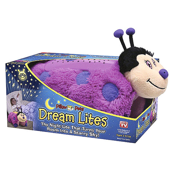Dream Lights Pillow Pet - Pink Lady Bug