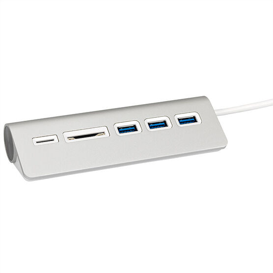 Certified Data Aluminum USB-C Hub with Card Reader - HYD-9807T