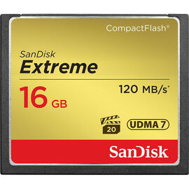 SanDisk Extreme 16 GB CompactFlash Memory Card - SDCFXS-016G-X46