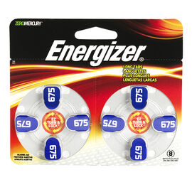 Energizer Lock & Turn Hearing Aid Batteries - AZ675DP-8 - 8 pack