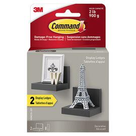 3M Command Large Display Ledges - Black - 2 pack