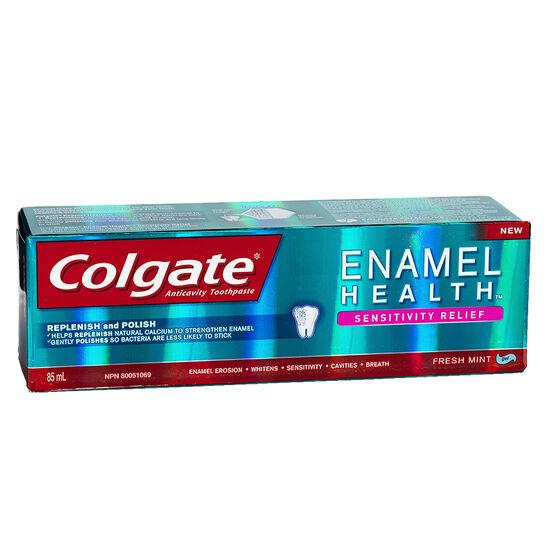 Colgate Enamel Health Sensitivity Relief Toothpaste - Fresh Mint - 85ml