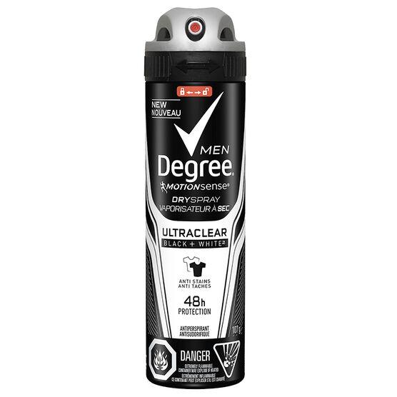 Degree Men Ultra Clear Dry Spray Antiperspirant - Black + White - 107g