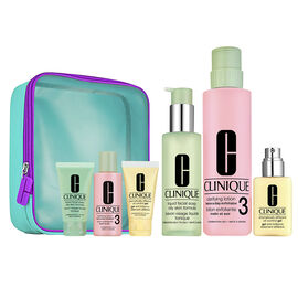 Clinique Great Skin Everywhere: 3-Step Skin Care Set For Oily Skin - 7 piece