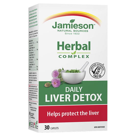 Jamieson Herbal Complex Daily Liver Detox - 30's