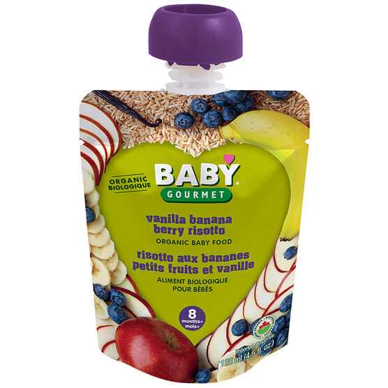 Baby Gourmet Baby Food Stage 3 - Vanilla Banana Berry Risotto - 128ml