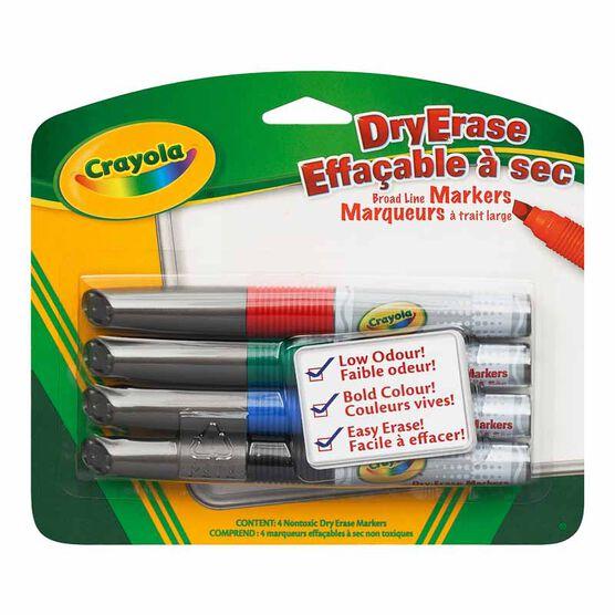 Crayola Dry Erase Broad Line Markers - 4pack