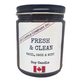 Cozy Candle Soy Candle - Fresh & Clean - 9oz