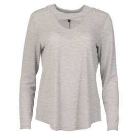 Lava V Neck Shirt with Criss Cross Collar - Silver Grey - Assorted