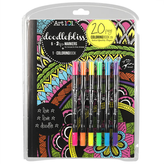 Art 101 Doodlebliss Colouring Book