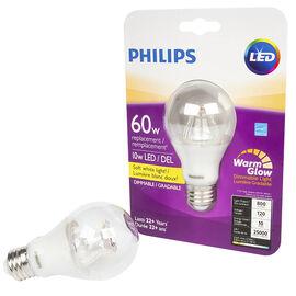 Philips LED A19 Lightbulb - Soft White Light - 10w/60w
