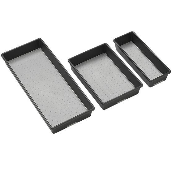 Madesmart Bin Pack - Granite - 3 pack