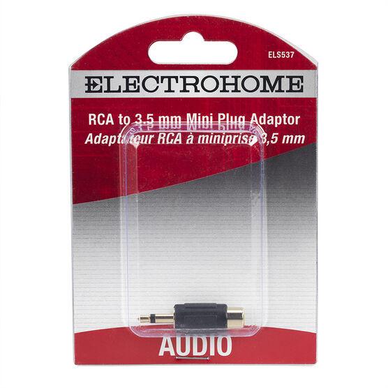 Electrohome Audio Adaptor RCA Jack / Mini Plug - ELS537