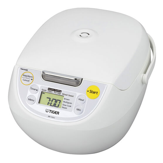 Tiger 4-in-1 Rice Cooker -  10 cups - White - JBV-S18U