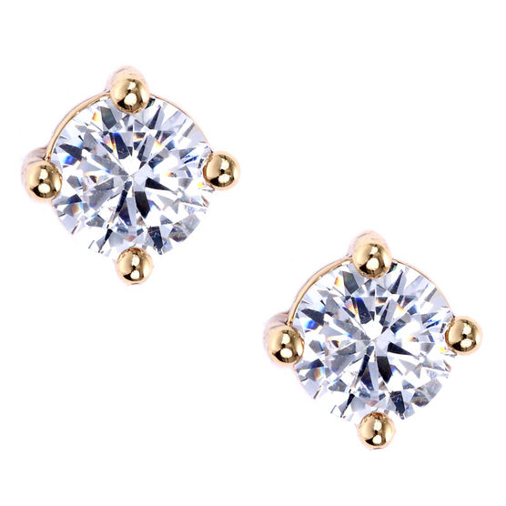 Lonna & Lilly Cubic Zirconia Stud Earrings - Crystal