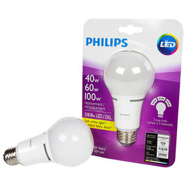 Philips A21 Trilight LED Light Bulb - Soft White - 40/60/100w