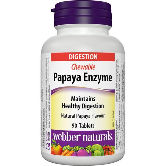 Webber Natural's Papaya Enzymes - 90's