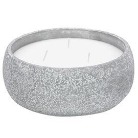 Patio Essentials Citronella Candle 3 Wick Round Cement Pot