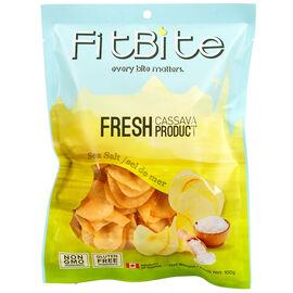 FitBite Fresh Cassava Chips - Sea Salt - 100g