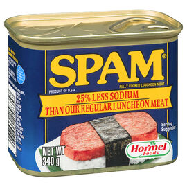 Spam Luncheon Meat - 25% Less Sodium - 340g