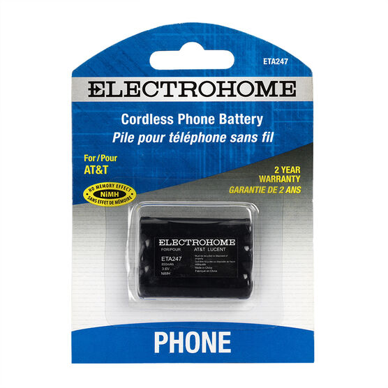 Electrohome Cordless Phone Battery - AT&T 3.6V - ETA247