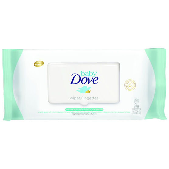 Dove Baby Sensitive Moisture Wipes Cleansing Wipes - 30s